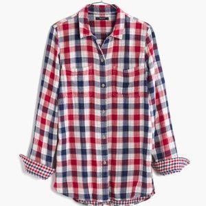 Madewell Ex Boyfriend plaid shirt - Emmet Plaid